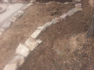 Raised Bed 6, uphill side